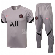 Chandal del Paris Saint-Germain Manga Corta 21-22 Gris