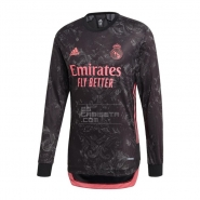 Manga Larga 3ª Equipacion Camiseta Real Madrid 20-21