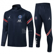 Chandal de Chaqueta del Paris Saint-Germain 2021-22 Azul