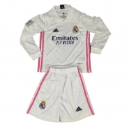 Manga Larga 1ª Equipacion Camiseta Real Madrid Nino 20-21