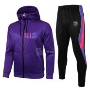 Chandal con Capucha del Paris Saint-Germain 21-22 Purpura